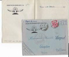 AVIATION MILITAIRE - 1942 - ENVELOPPE FM Du GROUPE De BOMBARDEMENT De La BASE AERIENNE De EL AOUINA (TUNISIE) - Marcophilie (Lettres)