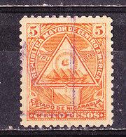Nicaragua 1898-5 P. Orange Usato - Nicaragua