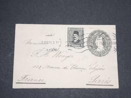 EGYPTE - Entier Postal + Complément Du Caire Pour Paris En 1930 - L 13511 - Egypt