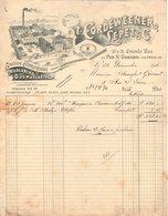 93  LE PRE SAINT GERVAIS  Près PARIS FACTURE 1910 Graisse Alimentaire Margarine CORDEWEENER LEPET & Cie   * Z74 - France