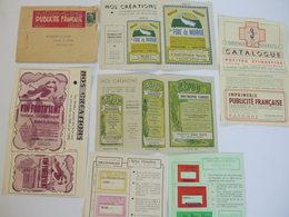 Lot Imprimerie Publicité Française, Vin Fortifiant,foie De Morue,etc, 64 Bayonne - Advertising