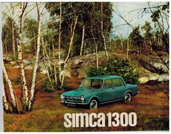 SIMCA 1300 CATALOGUE 6 PAGES 196? Format 27 X 21 FRANCE - Advertising