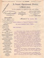 MONTREAL Canada COURRIER 1895 Compagnie D' Approvisionnements Alimentaires   * Z74 - Canada