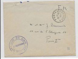 AVIATION MILITAIRE - 1940 - ENVELOPPE FM De La COMPAGNIE De L'AIR 109 - Marcophilie (Lettres)