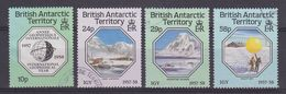 British Antarctic Territory 1987 International Geophysical Year 4v Used (37705) - Brits Antarctisch Territorium  (BAT)