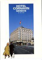 TINTIN  HERGE    GRAND HOTEL  CARNAVIN  GENEVE  -  SANS EDITEUR  AU DOS - Stripverhalen