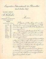 BRUXELLES COURRIER 1897 EXPOSITION INTERNATIONALE De Bruxelles  KALESKI Commissionnaire   * Z74 - Belgium