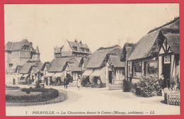 CPA -76 - POURVILLE - Chaumières Devant Le Casino**  Animation * SUP**2 SCANS. - France