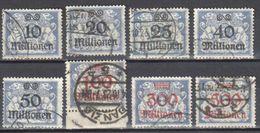 Poland Danzig 1923 Mi.169-76 - Used - Gestempelt - Dantzig