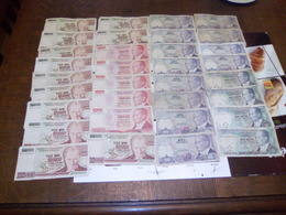 Turquie 75 Billets état -état Moyen -très Moyen Et Usagés - Coins & Banknotes