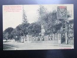 C.P.A. Nouvelle Calédonie NOUMEA Hôtel Du Commandant Militaire, Timbre - New Caledonia