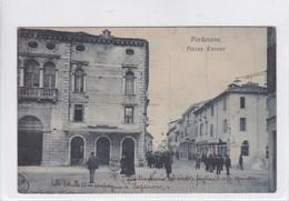 PORDENONE. PIAZZA CAVOUR. EDITORE ROMANO SACIOLOTTO.-VOYAGEE-ITALY ITALIE-RARE-TBE-BLEUP - Pordenone