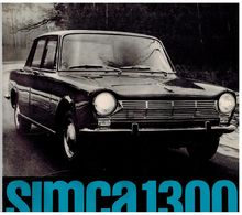 SIMCA 1300 CATALOGUE 3 VOLETS 196? Format 24 X 24 FRANCE - Advertising