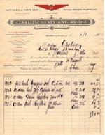 13 SALON De Provence FACTURE 1926 Raffinerie De Corps Gras  HUILES Ets ANT. ROCHE  Marque AR  * Z74 - Cars
