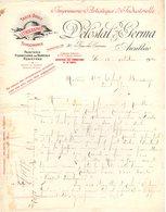 15 AURILLAC COURRIER 1940 Imprimerie Artistique & Industrielle DELOSTAL & GERMA   * Z74 - Printing & Stationeries