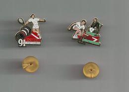 ROLAND GARROS CANON ET LACOSTE 1991 LOT DE 2 PINS ATTENTION REFLET AVEC SCAN PINS EN TRES BON ETAT - Badges