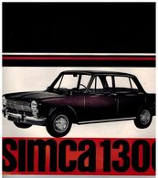 SIMCA 1300 CATALOGUE 16 PAGES 196? Format 24 X 24 FRANCE - Advertising