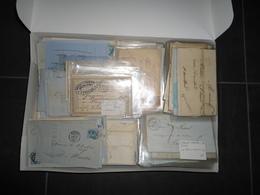 BEAU LOT  DE 318 LETTRES TIMBRES ET NON TIMBRE 1800/1900  VOIR PHOTOS RECTO VERSO ET DESCRIPTION - Stamps