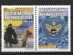 ECUAOR 2002 NATIONAL POLICE ANTINARCÓTICOS - Droga