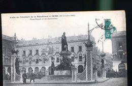 REIMS VISITE DU PRESIDENT - Reims