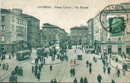 LIVORNO   -   Italie   -   Piazza  Cavour  -  Via  Ricasoli .  En  1930 - Livorno