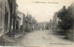 CPA - ACHEUX (80) - Aspect De La Rue De Forceville Dans Les Années 20 - Acheux En Amienois