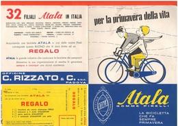 Bike Bicycles Biciclette Atala Padova Depliant Anni '60 Vèlos - Advertising