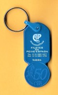 SHOPPING CART TOKEN / JETON DE CADDIE - AP - ARTESANAL PESCA - FILETES DE PEIXE-ESPADA / PORTUGAL / 03 - Trolley Token/Shopping Trolley Chip