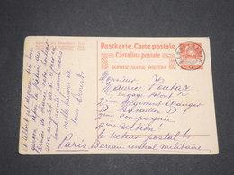 SUISSE - Entier Postal De Sembrancher Pour La France ( Bureau Central Militaire ) En 1915 - L 13545 - Interi Postali