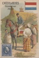 Chromos - Chromo La Poste Java The Dutch East Indies - Timbre Drapeau - Publicité  Savon Crésyl-Jeyes Paris - Trade Cards