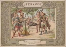 Chromos - Chromo Magasin Au Bon Marché - Bouclier De Brennus Malheur Aux Vaincus - Histoire - Sports Rugby - 1900 - Au Bon Marché
