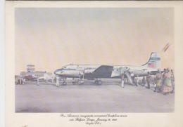 Menus - Aviation Avion Douglas - 1st Flights Compagnie Aérienne Pan American - Aéroport Leopoldville Congo Belge - Menus