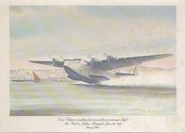 Menus - Aviation Avion Douglas - 1st Flights Compagnie Aérienne Pan American - Hydravion New York Lisbonne - Menus