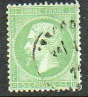 France N° 20 Napoléon III 5 C Vert - 1853-1860 Napoleon III