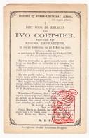 DP Ivo Coetsier ° Ruien Kluisbergen 1802 † Waarmaarde Avelgem 1885 X Regina DePraetere - Devotion Images