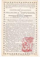 DP Francisca Cnudde ° Kaster Anzegem 1815 † Waarmaarde Avelgem 1880 X Fr. Verhoest - Devotion Images