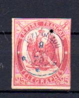 1868  Télégraphe, Aigle Impérial, TG 1 Oblitéré, Cote 170 €,   Abeille En Décor - Telegraphie Und Telefon