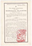 DP Rosalia Claeys ° Oedelem Beernem 1810 † St.-Amandsberg Gent 1892 X Petrus Roelof - Devotion Images