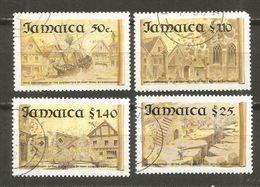 JAMAICA PORT ROYAL YVERT NUM. 808/811 SERIE COMPLETA USADA - Jamaica (1962-...)