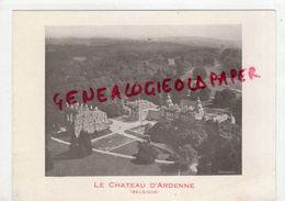 BELGIQUE- PUBLICITE TARIFS LE CHATEAU D' ARDENNE- HOTEL RESTAURANT 1934 - Old Professions