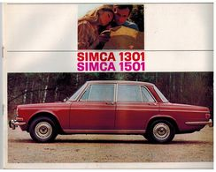 SIMCA 1301/1501 CATALOGUE 14 PAGES 1967 Format 27 X 21 FRANCE - Advertising