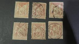 Lot Sage N° 67 Obliteration  Rouge , Constantinople , Cachet Essai Place De La Bourse , Périodique Etc ... - 1876-1878 Sage (Type I)