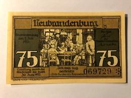 Allemagne Notgeld Neubrandenburg 75 Pfennig - [ 3] 1918-1933 : République De Weimar