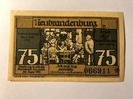 Allemagne Notgeld Neubrandenburg 75 Pfennig - [ 3] 1918-1933 : Weimar Republic