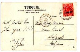 CP De Smirna_Smirne (15.09.1907) Pour Selzaete_Zelzate_Levant_Turquie - Levant Britannique