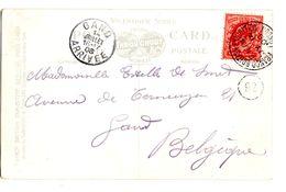 CP De London_Franco British Exhibition (14.08.1908) Pour Gand Arrivée_boite Mobile - 1902-1951 (Rois)