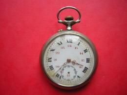 NO PAYPAL ANCIENNE MONTRE A GOUSSET A REPARER MAIS NON BLOQUE écrit ARGENTAN BF MANQUE LA PETITE AIGUILLE - Watches: Bracket