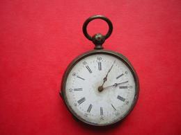 NO PAYPAL ANCIENNE PETITE  MONTRE A GOUSSET A REPARER A CLE MANQUE LE VERRE ET JE N'AI PAS LA CLEF CYLINDRE 8 RUBIS 8363 - Watches: Bracket