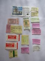 PORTUGAL Lisbonne (LOT N° 2) : Lot De 17 Tickets Divers. 1982 - Railway