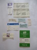 ESPAGNE BARCELONNE : Lot De 10 Tickets Divers - LOT N° 2 (Train - Tramway) Plus Un Horraire. 1986 - Railway
